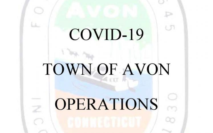 COVID-19: Town of Avon Operations Update